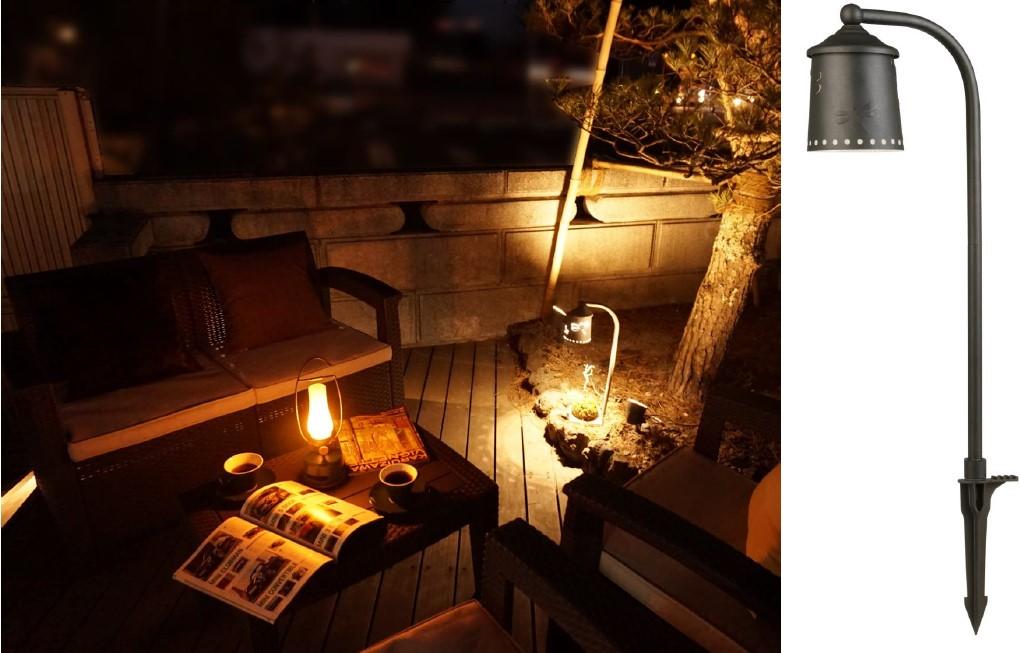 LEDアプローチライト BERKLEY AP-05-3  黒色 H508mm×D81mm  / エクステリアライトSHOP